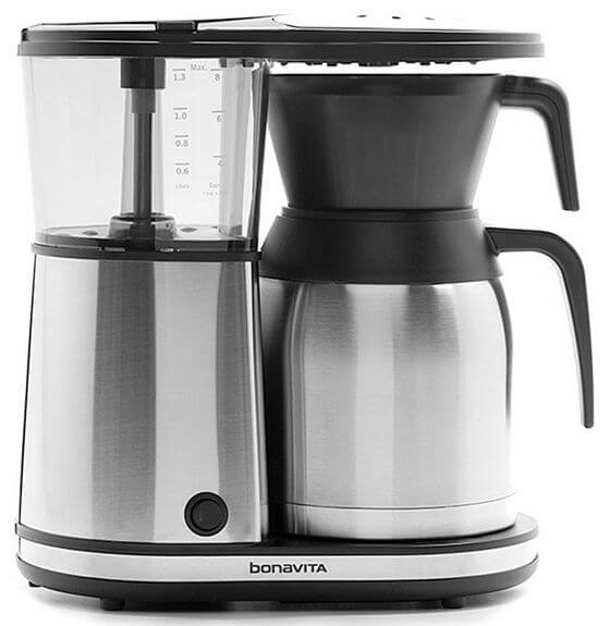 Bonavita BV1900TS 8-cup Coffee Brewer with Stainless Steel Lined Thermal Carafe