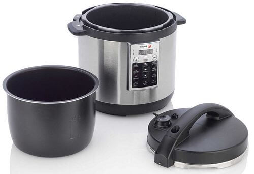 8 Qt Non Stick Electric Pressure Cooker Stainless Steel