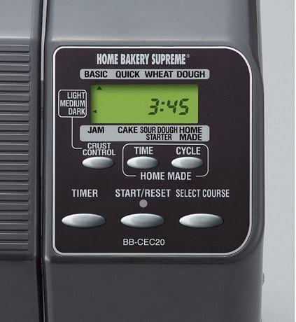 Zojirushi-BB-CEC20-2-pound-Home-Bakery-Supreme-Breadmaker-control-panel