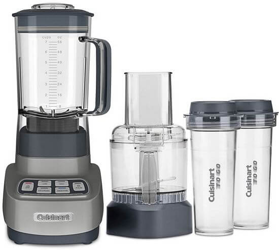 Cuisinart BFP-650GM Velocity Ultra Trio 1 HP Blender/Food Processor with Travel Cups