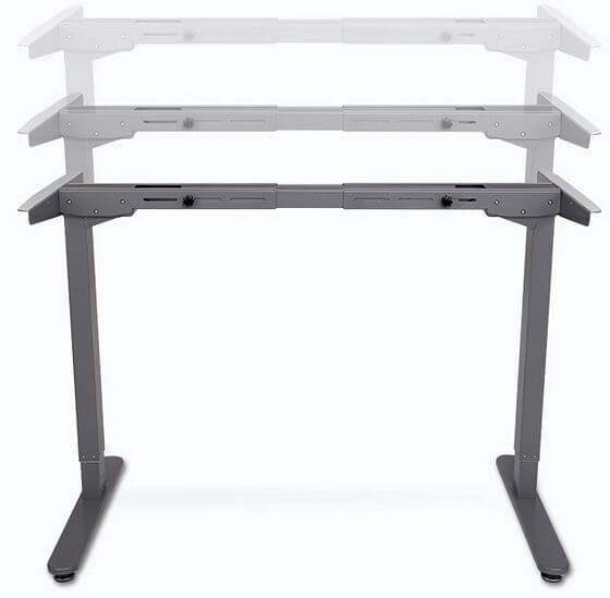 adjustable standing desk frame