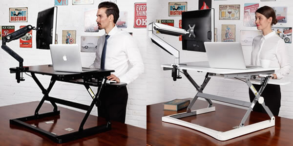 sit stand desktop workstation
