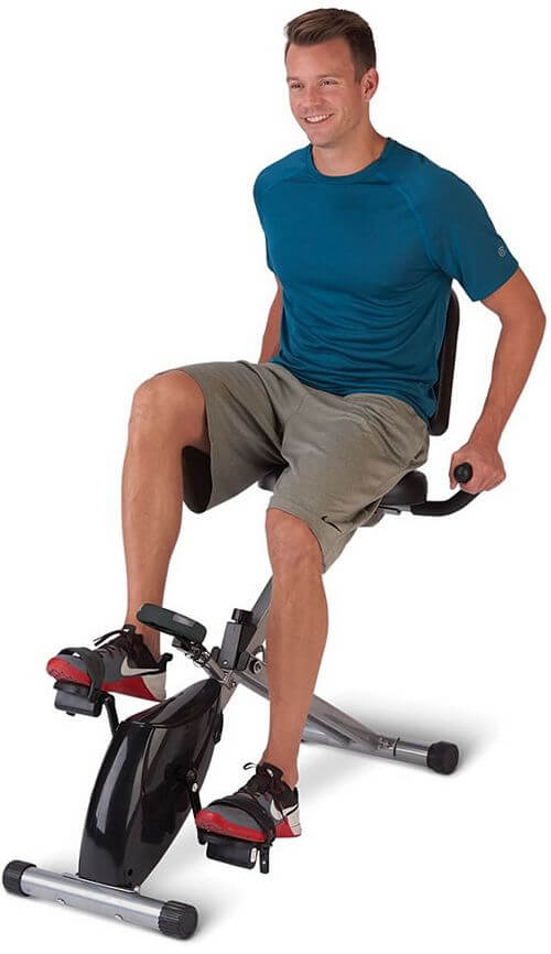 folding recumbent exercise bicycle