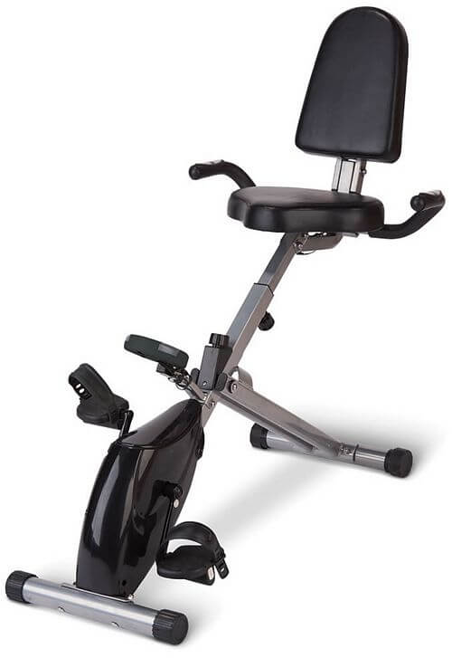 folding recumbent home bike
