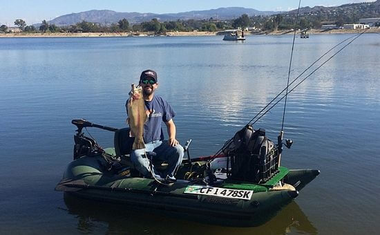 1 person inflatable pontoon fishing boat