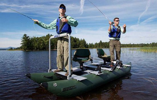 2 person pontoon fishing boat for sale
