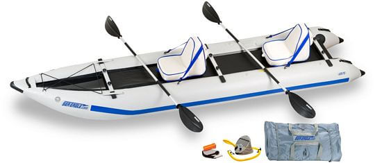 inflatable pontoon kayak