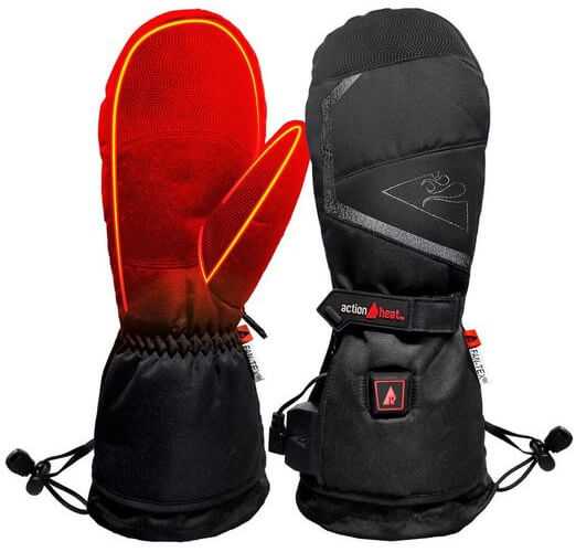 rechargeable heated mittens
