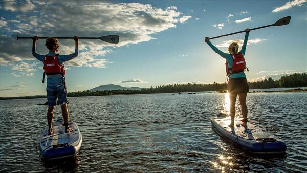 wide inflatable paddle board